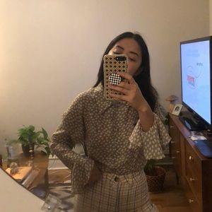 vintage | floral blouse 🌼